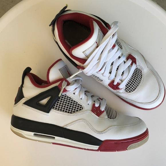 timeless design e2a5f 8960a Jordan Other - Nike Air Jordan 4 IV Retro White Varsity Red Black